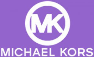 Purple Michael Kors logo